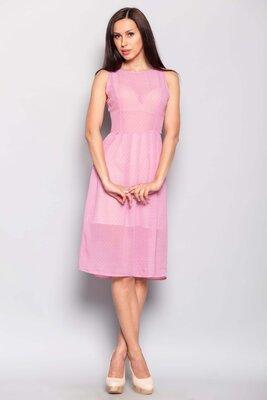 46 48 размер женское летнее платье розовое