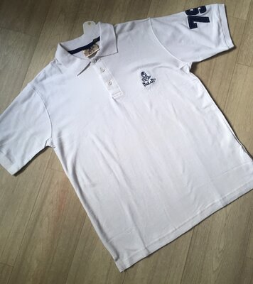 Белая мужская футболка-поло от Dakar размер M