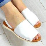 Стиляшки Женские кожаные сандалии испанка Летнии босоножки менорки цвет пудра