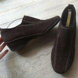 Кожаные туфли Ecco 1раз одеты