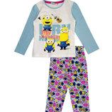 Хлопковая пижама с Миньонами р.98,116