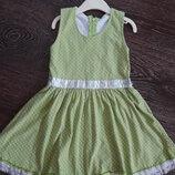 Платье сарафан в горошек 98 см 3-4 года