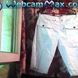 Жен. белые шорты б-у в отличном состоянии.Бренд -PENIM-co/Пояс-84 см.Бёдра-110 см. Длина--50 см.