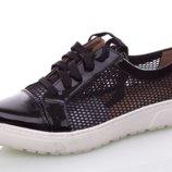 Туфли-Кеды летние Girnaive женские чёрные