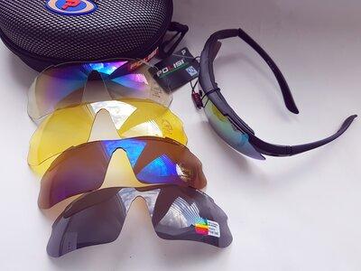 Продано: Велосипедные / тактические очки Polisi 5 сменных линз uv 400 и polarized установка линз по рецеп