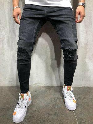 Мужские модные джинсы от Zara. Размер 31, европейский 40. Джинсы плотные, рванности не сплошные , е