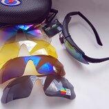 Велосипедные / тактические очки Polisi 5 сменных линз uv 400 и polarized установка линз по рецеп