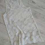 Пляжная туника,платье кружевное,накидка стильная.