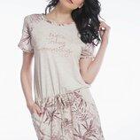 Стильное домашнее платье ellen с тропическим принтом.