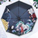 Зонт «Унесённые призраками». Аниме Зонтик. Хаяо Миядзаки. Изысканный и реалистичный принт.