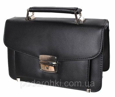 Мужская сумка барсетка классическая YW201Black черная Премиум 8 карманов, замок
