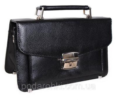 Мужская сумка барсетка классическая YW202Black черная Премиум 8 карманов, замок
