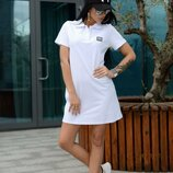 Стильное платье поло Лч-643