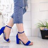 Женские синие босоножки
