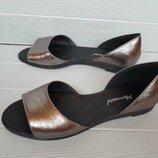Летние туфли/босоножки Dark-silver кожа 36-40 р-ры