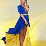 Платье дизайнерское двусторонее Sofi Strokatto, Украина, флаг