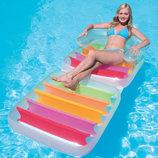 Пляжный надувной шезлонг кресло Intex 58847, Радуга, 198 х 94 см Отзывы