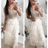 Очень красивая кружевная юбка,4 цвета