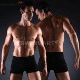 Плавки мужские купальные, трусы-боксеры для бассейна, пляжа черные