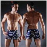 Плавки мужские купальные, трусы-боксеры для бассейна, пляжа разноцвентый