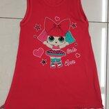 Платье летнее с куклой Лол плаття сукня літня дитяча з лялькою Lol