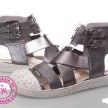 Модные бронзовые сандалии 35-40