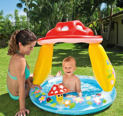 Детский надувной бассейн Intex 57114 Грибочек