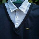 Рубашка обманка в школу на возраст 11-13 смотрите замеры