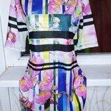 Стильное платье футболка Atmosphere цветочный принт орхидеи