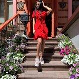 Платье в горошек 5 расцветок 42-46 размеры