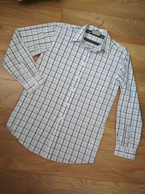 Фирменная качественная рубашка Here&There на рост 170/176 см. Примерно М-L. Состояние идеальное