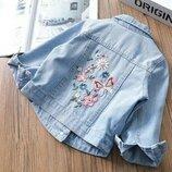 Красивая куртка джинс р. 92-104