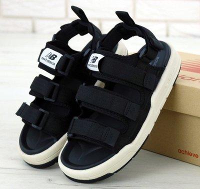 Женские сандалии босоножки New Balance сандали. Нью Беланс. Black White