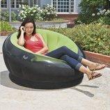 Велюр кресло 68582 - 112-109-69 см Надувное кресло Intex 68582
