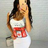 Платье белого цвета К900