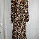 Новое натуральное платье на запах New Look 16p