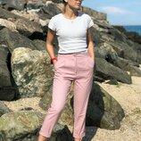 Молодежные брюки из лена