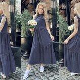 Женское стильное коттоновое платье в горошек скл.1 арт. 55662