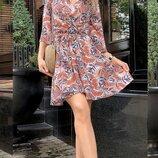 Женское летнее платье ткань софт с принтом скл.1 арт.55659