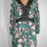 Новое красивое платье с кружевом и цветочным принтом 12p