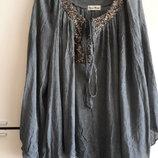 Красивая нарядная летняя блузка Италия легкий котон