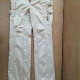 Легкие белые брюки хлопок. 44 р.. Б/в