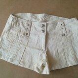 Короткі шорти із льону. Б/в