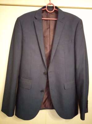 Пиджак мужской фирмы Next р.40 темно-синего цвета новый