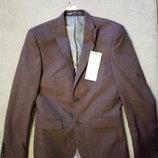 Пиджак для подростка фирмы Next р.34 рост 164см, коричневого шоколадного цвета новый с бирками