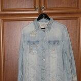 Стильная джинсовая куртка Next Oversized Denim Jacket