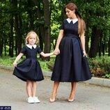 Новиночки Набор взрослое детское платье, размеры 42-44