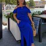 женское платье 3 Цвета Р-Ры 60 До 64 штапель
