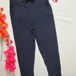 Стильные модные легкие летние брюки на резинке с подкотами 100% вискоза высокая посадка Atmosphere.