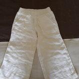 Красивые и стильные летние льняные штаны шорты бриджи